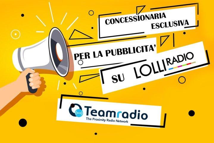 Teamradio: concessionaria esclusiva per la pubblicità su LolliRadio